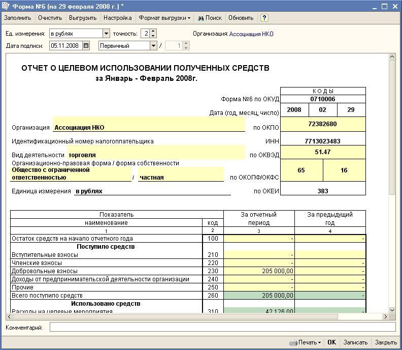 Отчет о целевом использовании средств. ВДГБ: Бухгалтерия для некоммерческих организаций