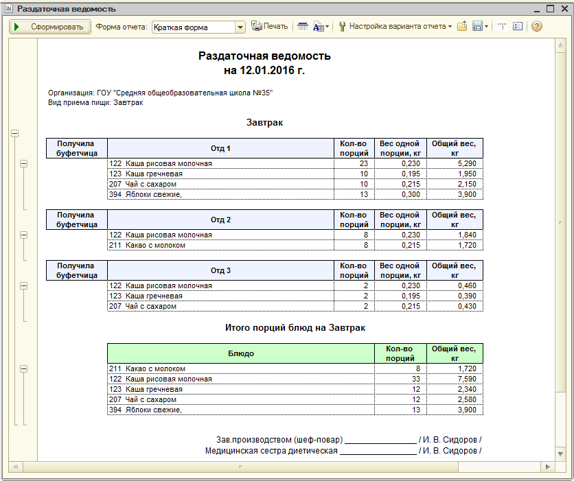 Скачать бесплатно программу для составления калькуляции блюд